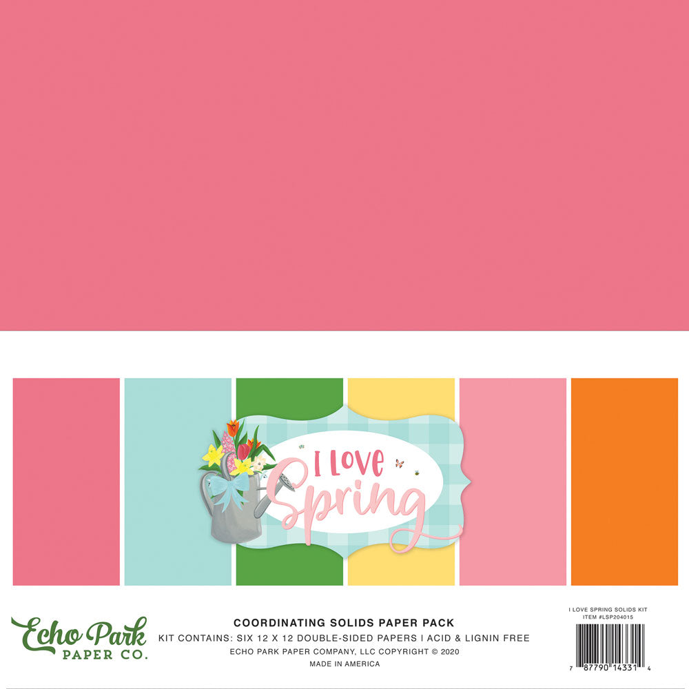 I love Spring 12x12 Solids Kit