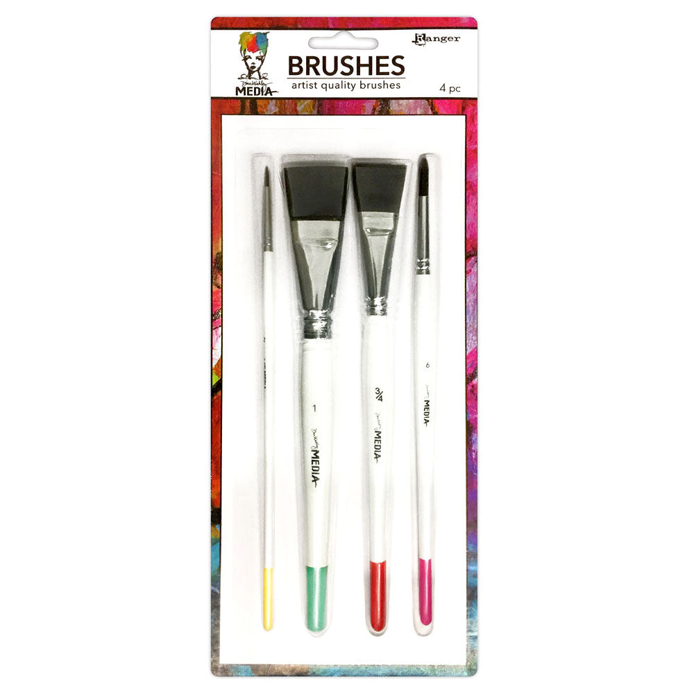 Dina Wakley Media Paint Brushes - 4 pk