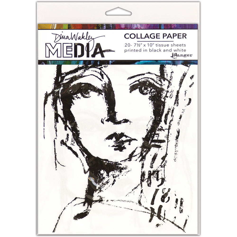 Dina Wakley Media Faces Collage Tissue Paper