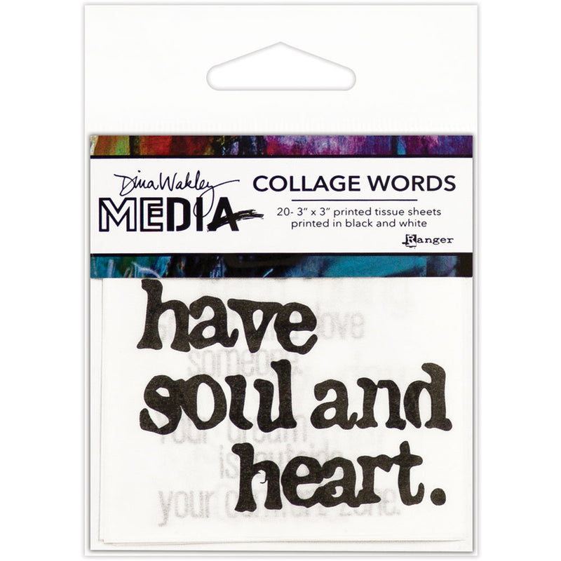 Dina Wakley Media Collage Tissue Words 2