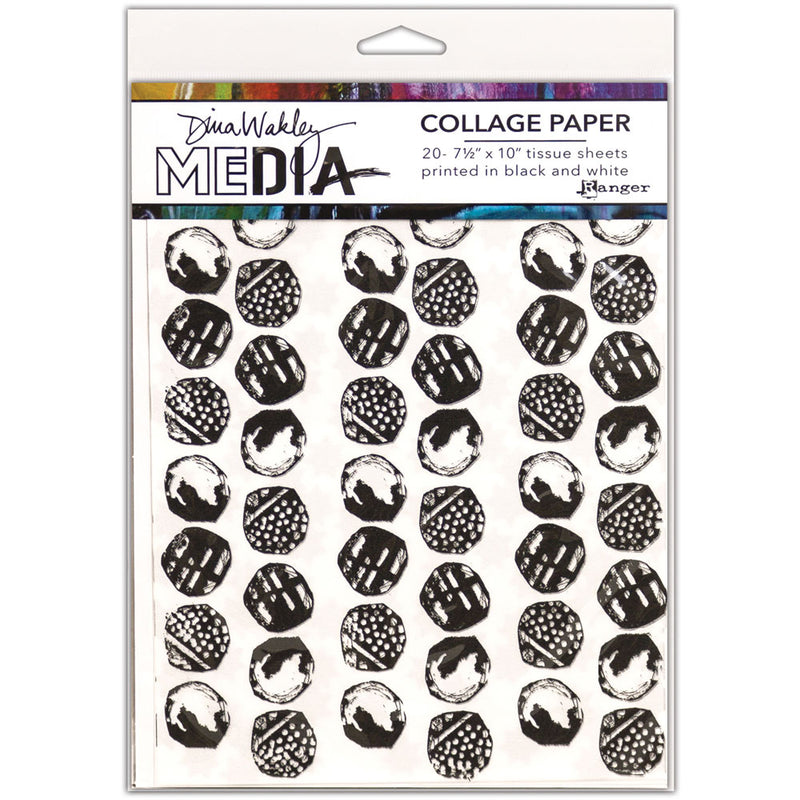 Dina Wakley Media Backgrounds Collage Tissue Paper