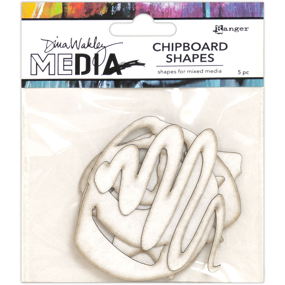 Dina Wakley Media Chipboard Shapes - Basics