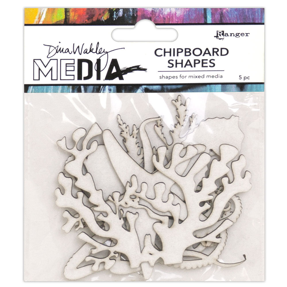 Dina Wakley Media Ocean Chipboard Shapes
