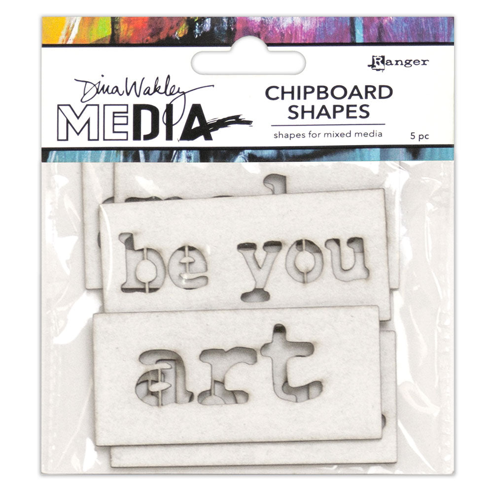 Dina Wakley Media Chipboard Shapes - Words