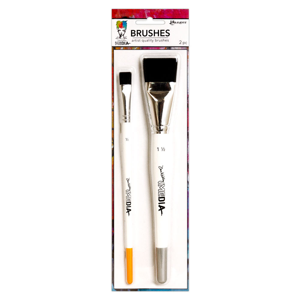 Dina Wakley Media Brushes - 2 pk