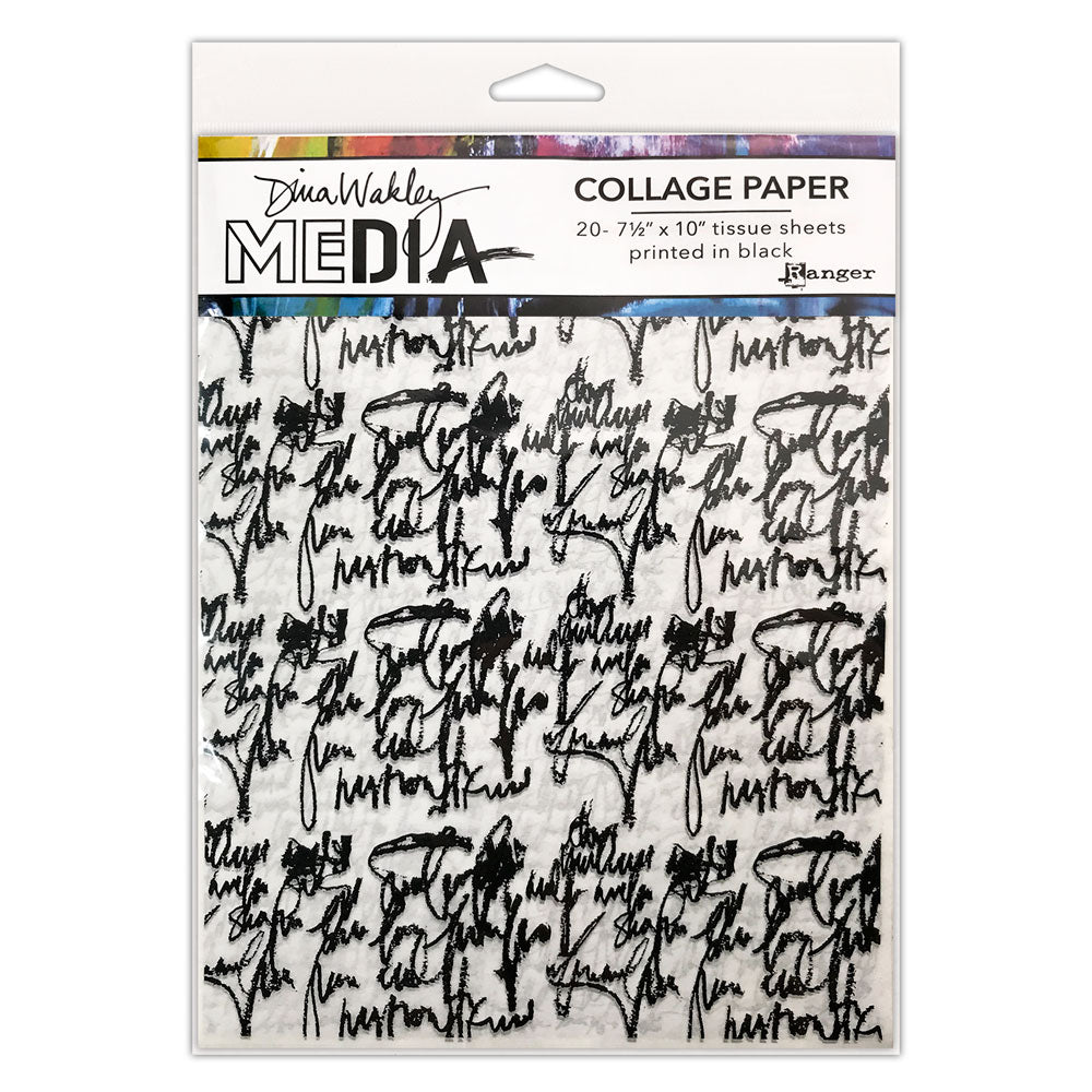 Dina Wakley Media Just Words Collage Tissue Paper