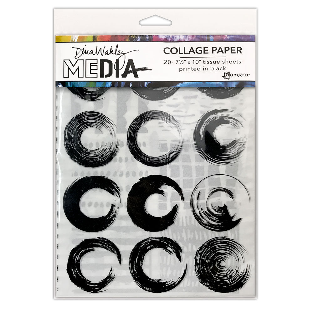 *RESERVE*    Dina Wakley Media Elements Collage Tissue Paper