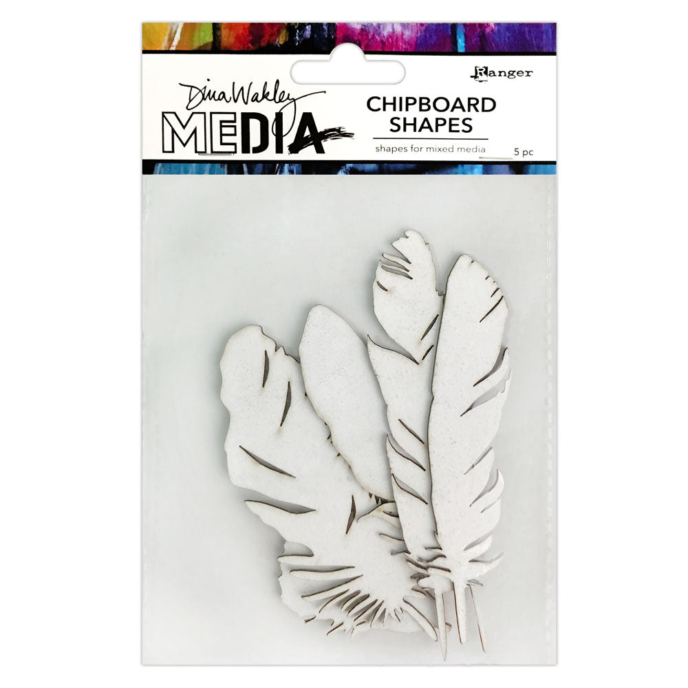 Dina Wakley Media Feathers Chipboard Shapes