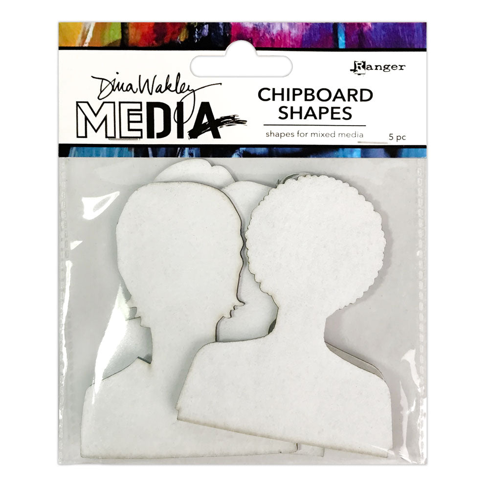 Dina Wakley Media Passport Photos Chipboard Shapes
