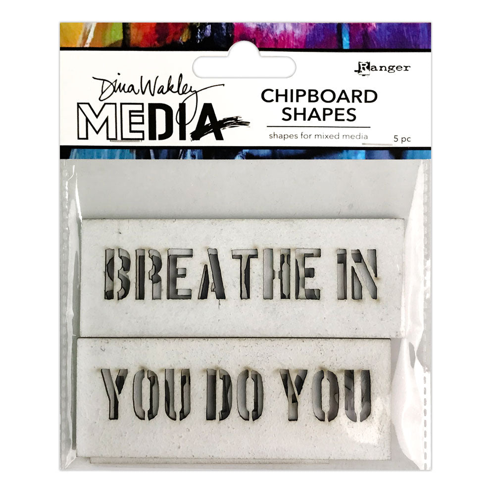 Dina Wakley Media Speak Out Chipboard Shapes