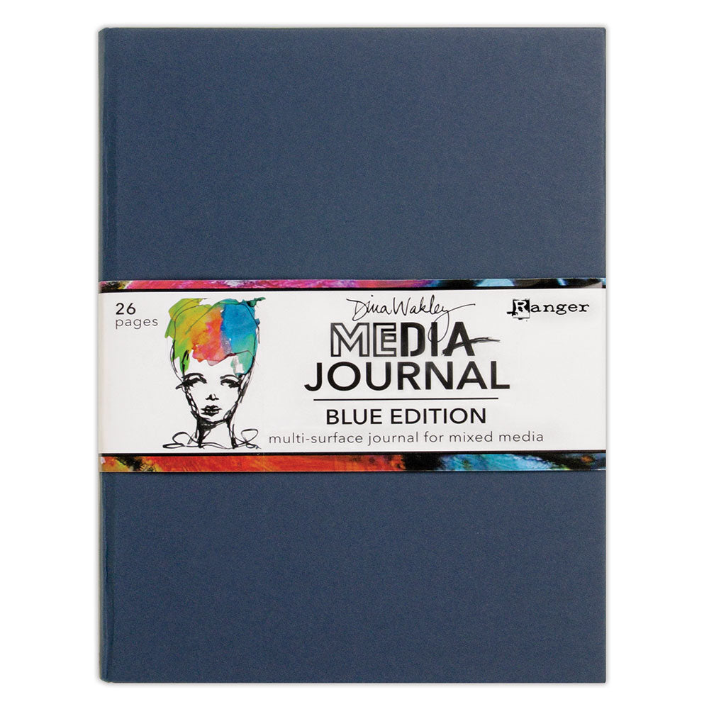 Dina Wakley Media 8x10 Mixed Media Art Journal - Blue Edition