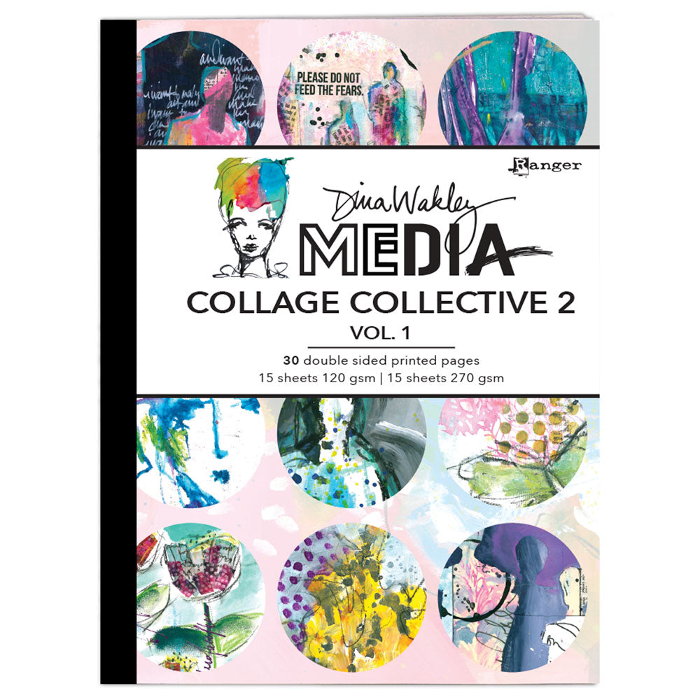Dina Wakley Media Collage Collective 2 - Volume 1