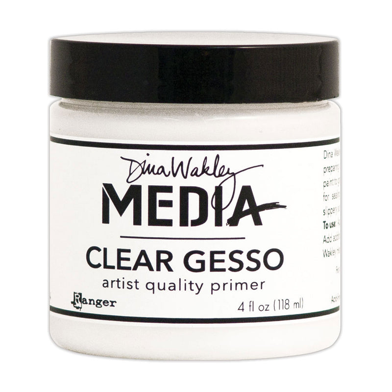 Dina Wakley Media Clear Gesso  (Available in 2 sizes)