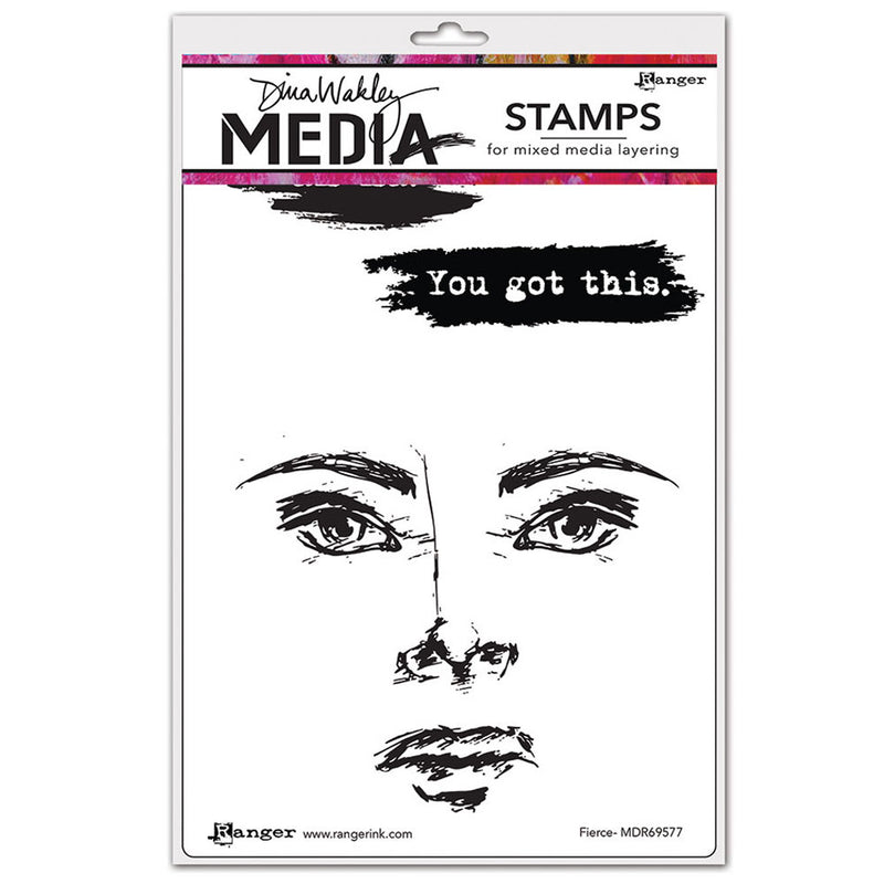 Dina Wakley Media Stamp Set - Fierce