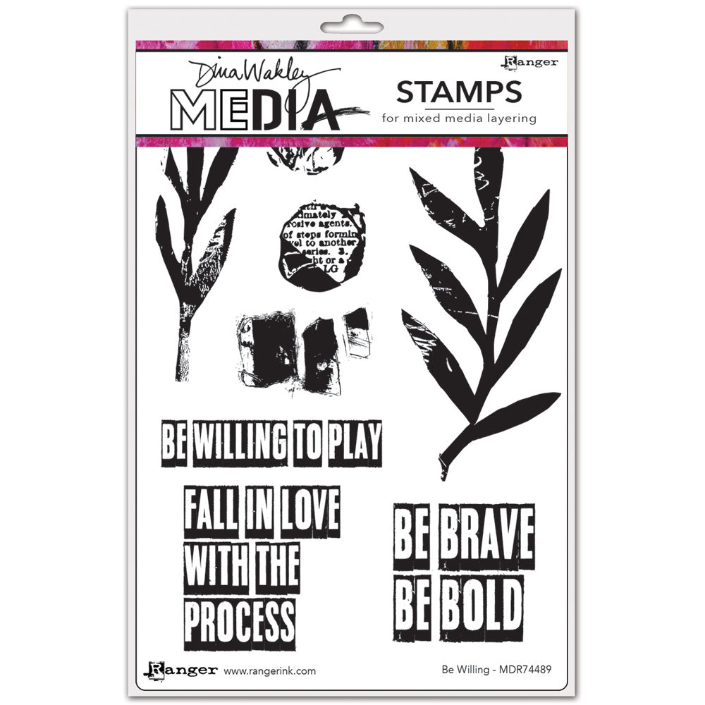 Dina Wakley Media Stamp Set - Be Willing