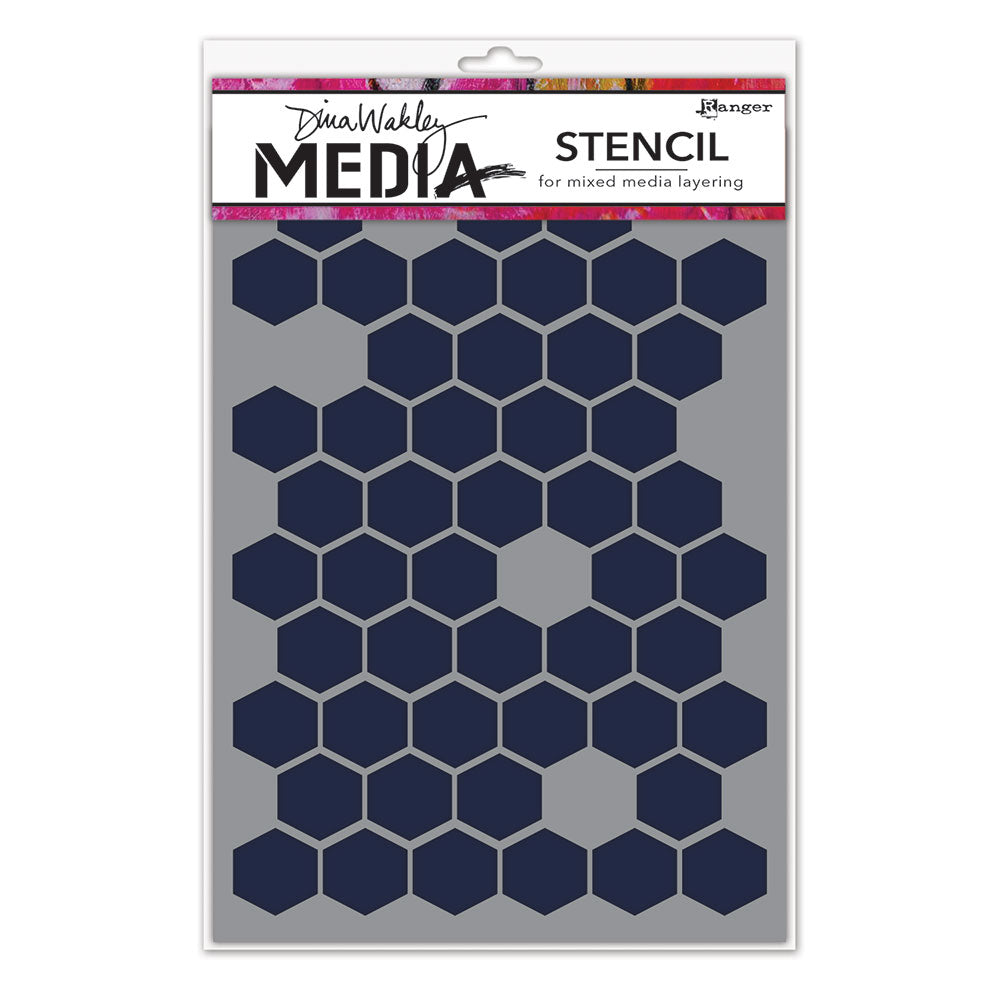 Dina Wakley Media Honeycomb Stencil