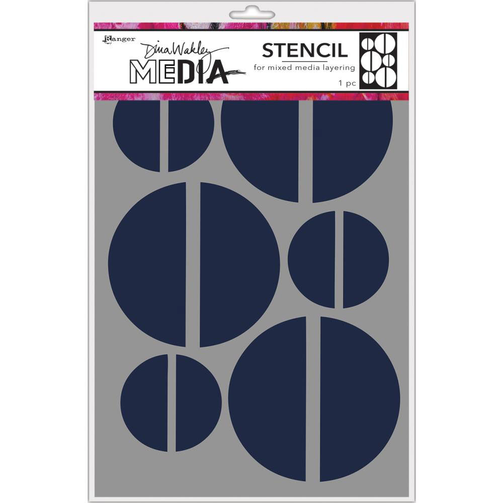 Dina Wakley Media Large Halves Stencil