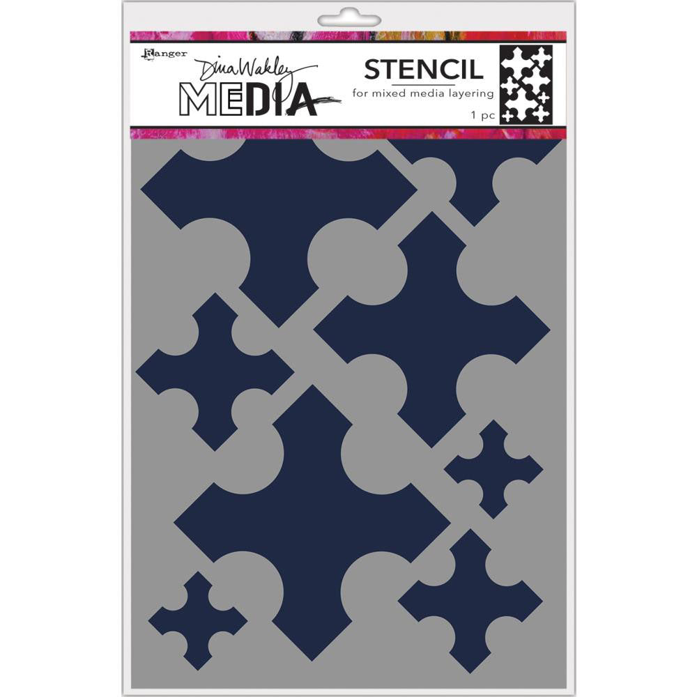 Dina Wakley Media Large Medieval Crosses Stencil