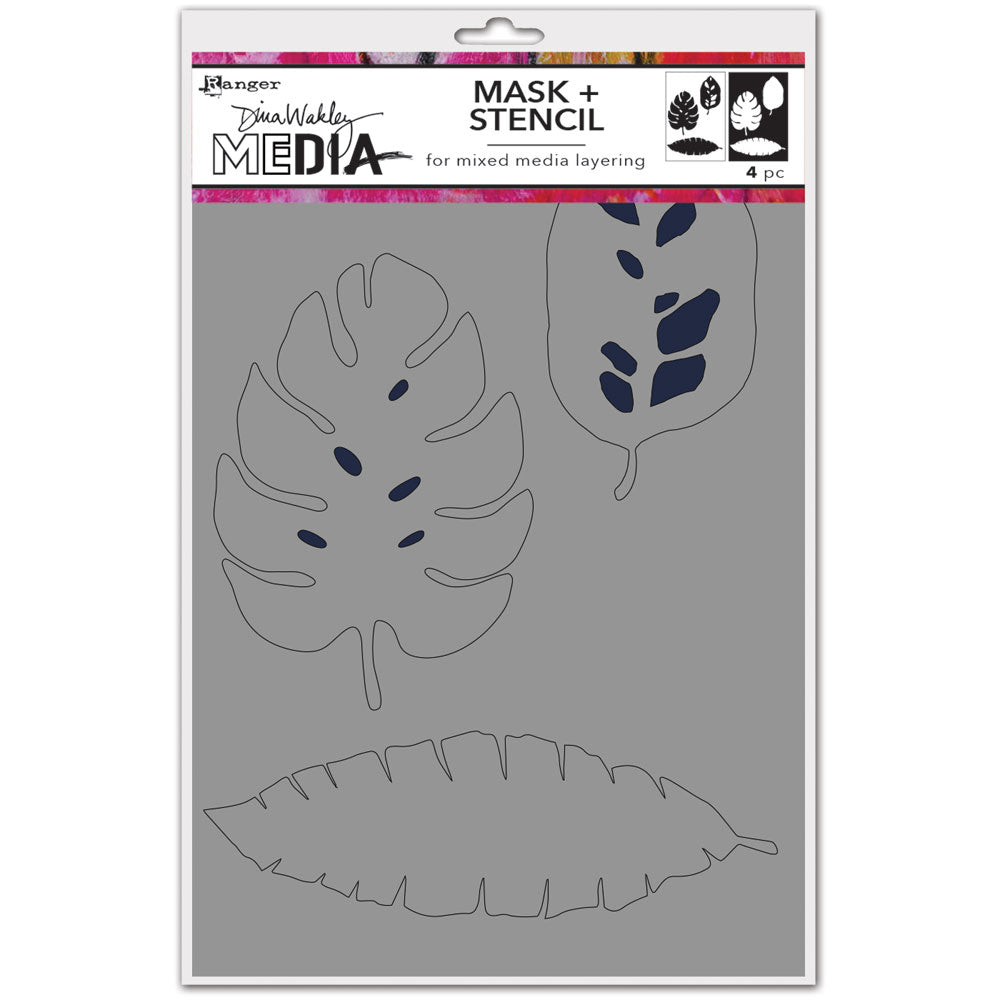 Dina Wakley Media Tropical Stencil & Masks