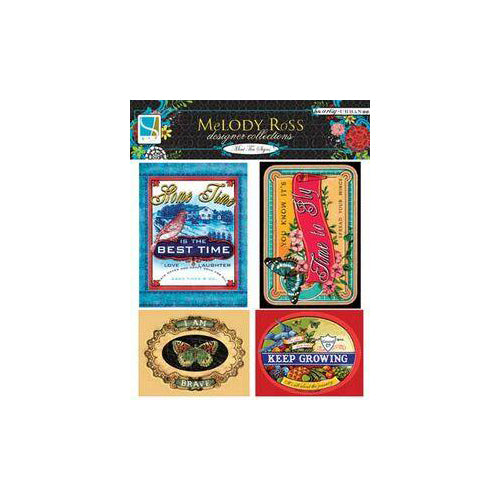 Melody Ross Artsy Urban Mini Tin Signs