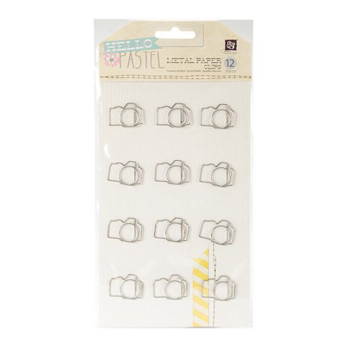 Hello Pastel Metal Paper Clips packaging
