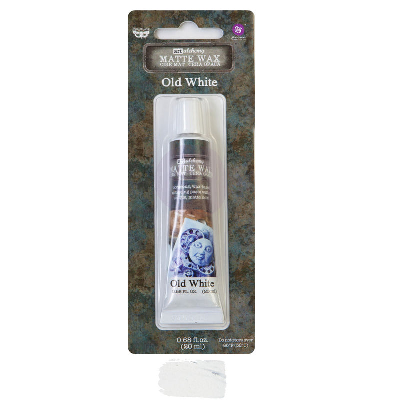 Finnabair Art Alchemy Matte Wax  - Old White - New Tube Packaging 2020