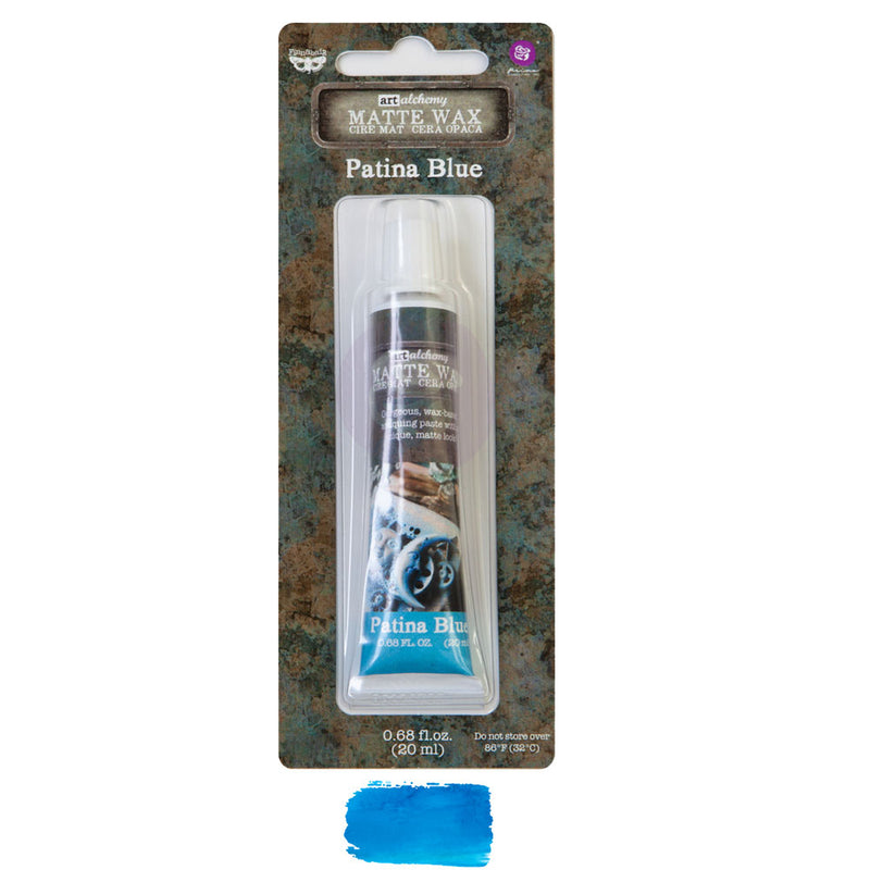 Finnabair Art Alchemy Matte Wax  - Patina Blue - New Tube Packaging 2020