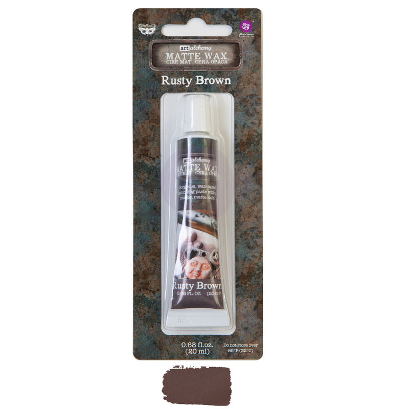 Finnabair Art Alchemy Matte Wax  - Rusty Brown - New Tube Packaging 2020