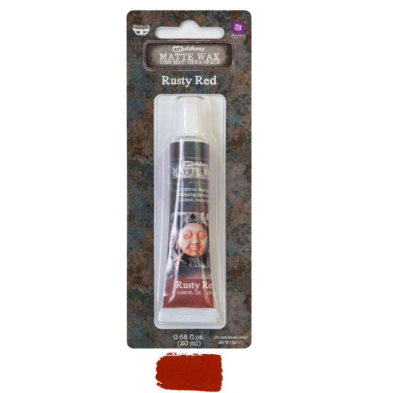 Finnabair Art Alchemy Matte Wax  - Rusty Red - New Tube Packaging 2020