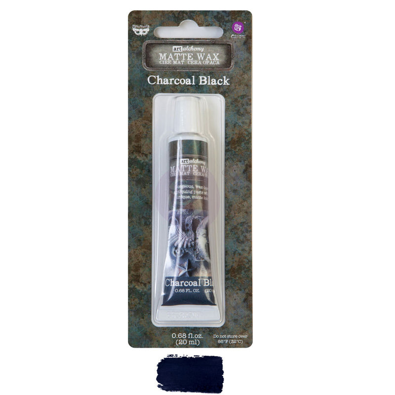 Finnabair Art Alchemy Matte Wax  - Charcoal Black - New Tube Packaging 2020