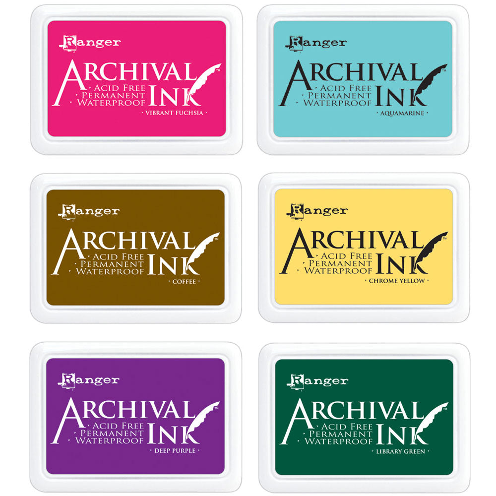Ranger Archival Ink Pads - waterproof ink - available in 24 colors