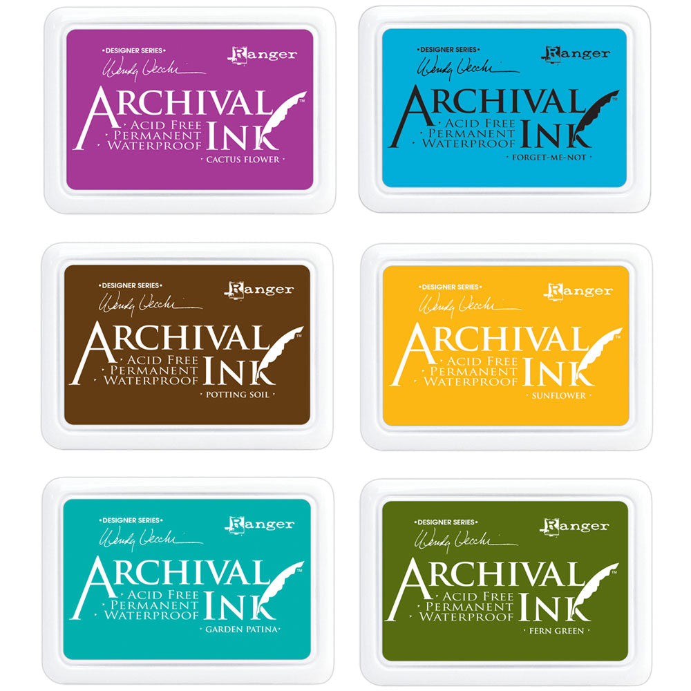 Wendy Vecchi Archival Ink Pads - waterproof ink - available in 24 colors