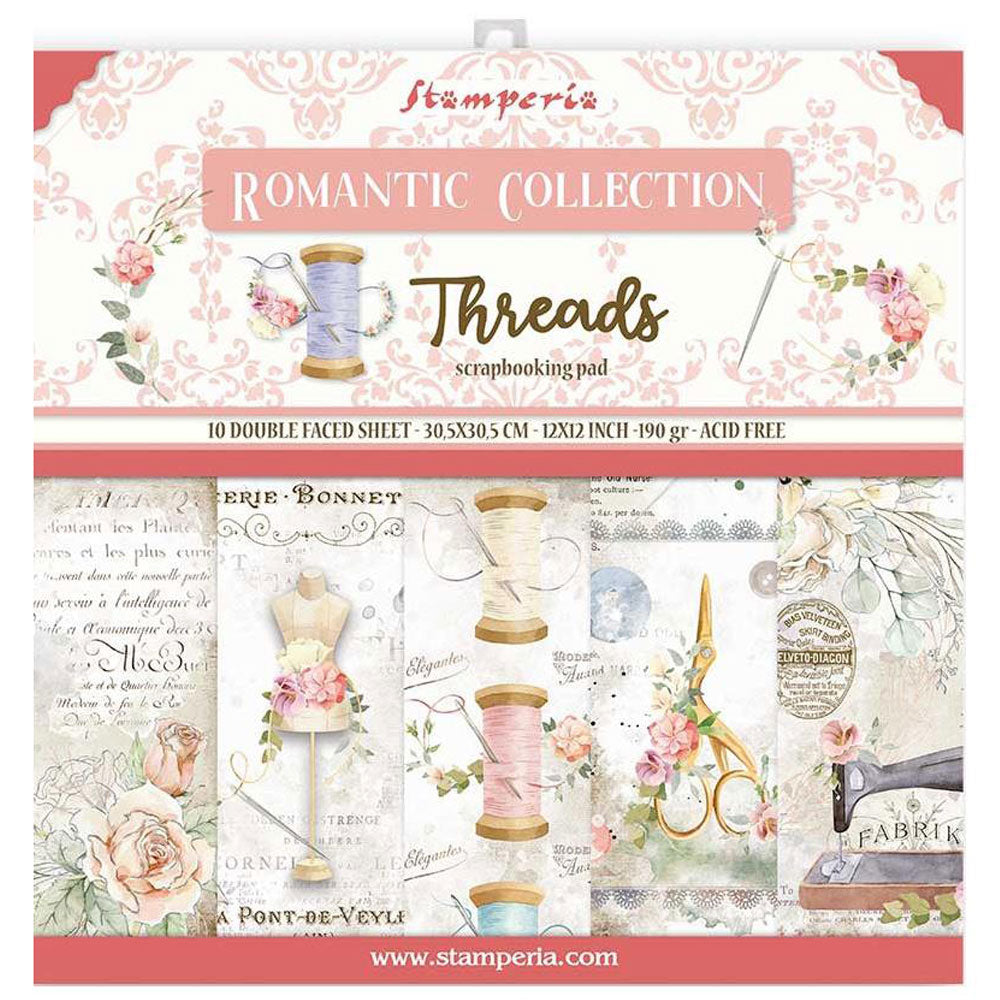Romantic Threads 12x12 Paper Pad