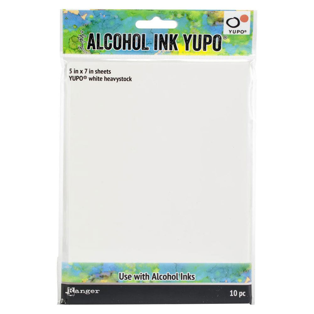 Tim Holtz Alcohol Ink 5x7 White Yupo Heavystock