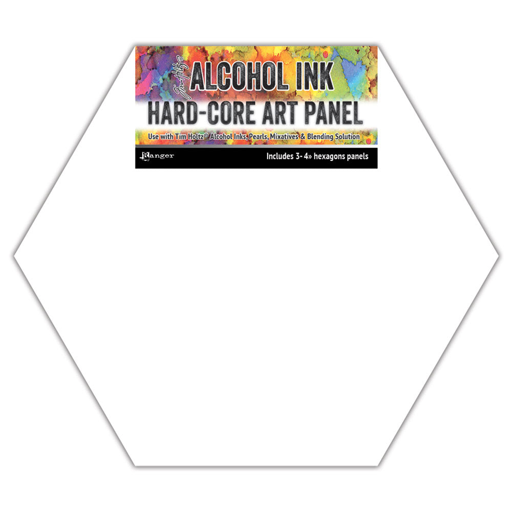 "Tim Holtz Alcohol Ink Hard-Core Art Panels - 4"" Hexagons multi pack"