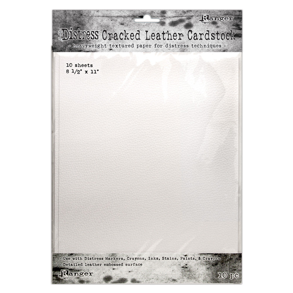 "Tim Holtz Distress 8.5"" x 11"" Cracked Leather Cardstock"