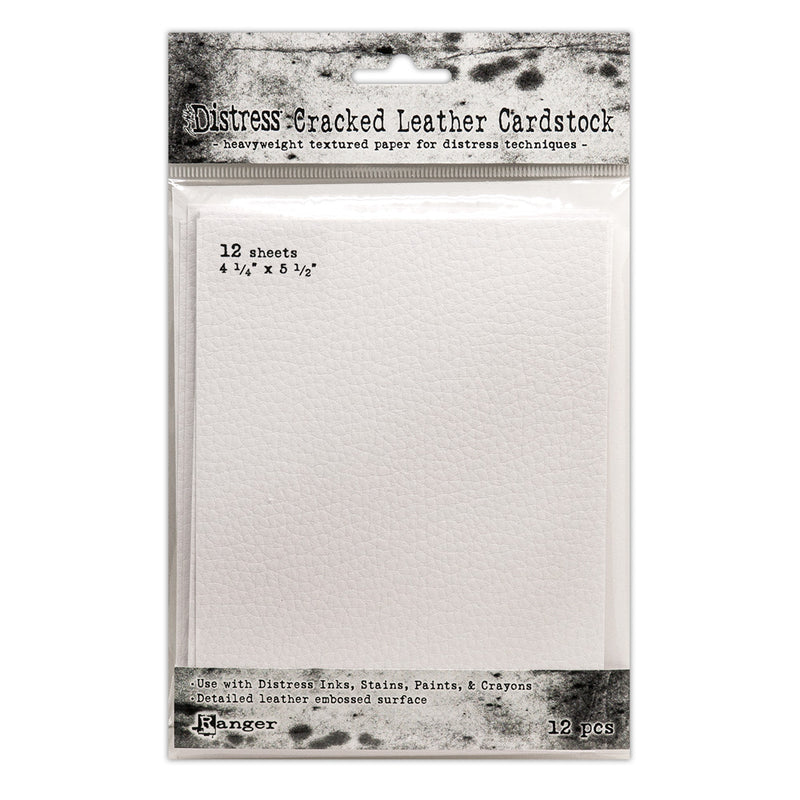 "Tim Holtz Distress 4.25"" x 5.5"" Cracked Leather Cardstock"
