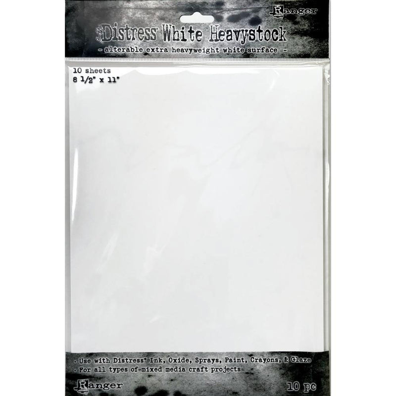 Tim Holtz Distress 8.5 x 11 White Heavystock