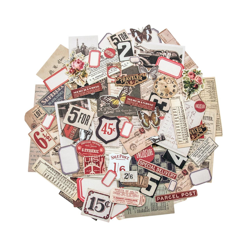 Tim Holtz Idea-ology Ephemera Pack, Snippets