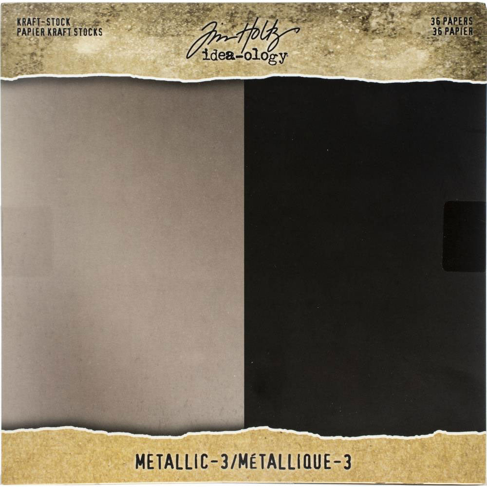 Tim Holtz Idea-ology Metallic 3 Kraft Stock