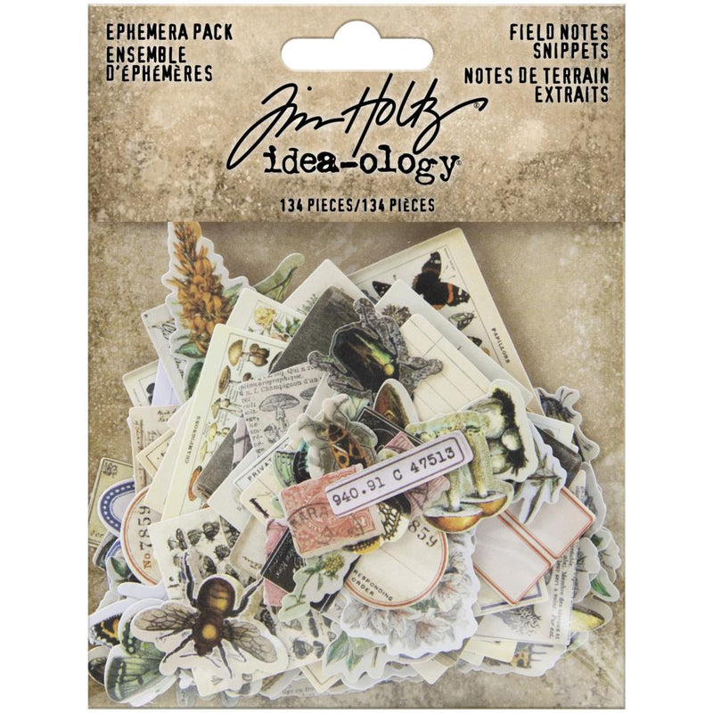 *RESERVE*  Tim Holtz Idea-ology Field Notes Snippets Ephemera
