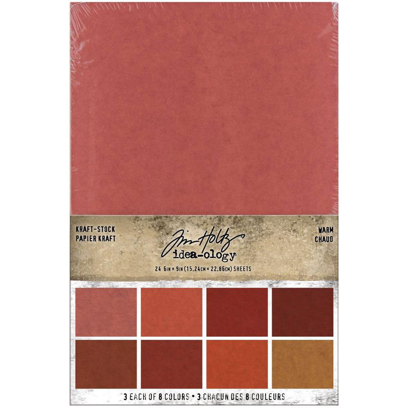 *RESERVE*    Tim Holtz Idea-ology 6x9 Warm Kraft Stock