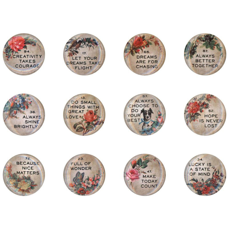 Tim Holtz Idea-ology Quote Flair Buttons