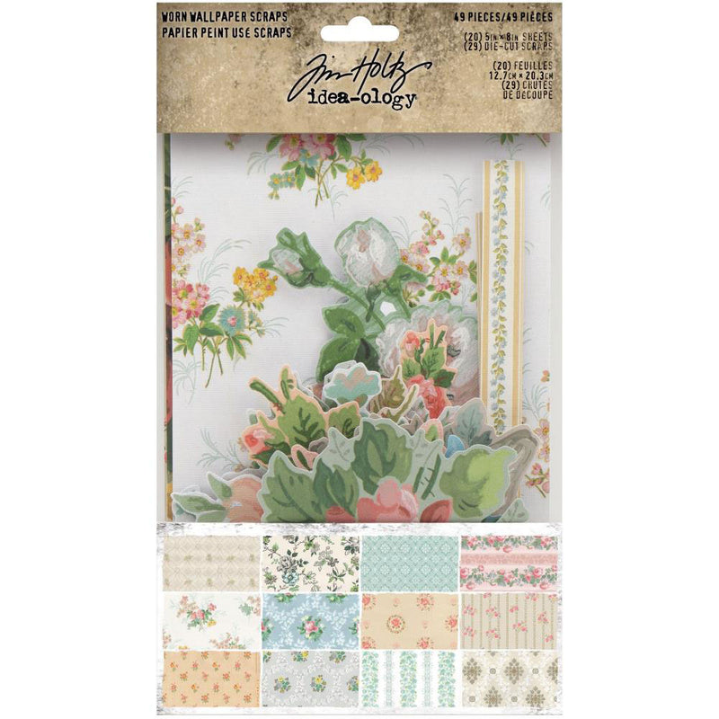 *RESERVE*    Tim Holtz Idea-ology Worn Wallpaper Scraps