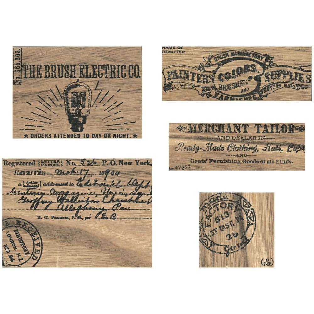Tim Holtz Idea-ology Vignette Advert Panels