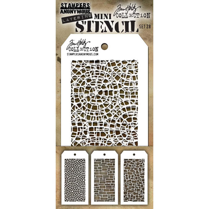 Tim Holtz Mini Layering Stencil Set #28