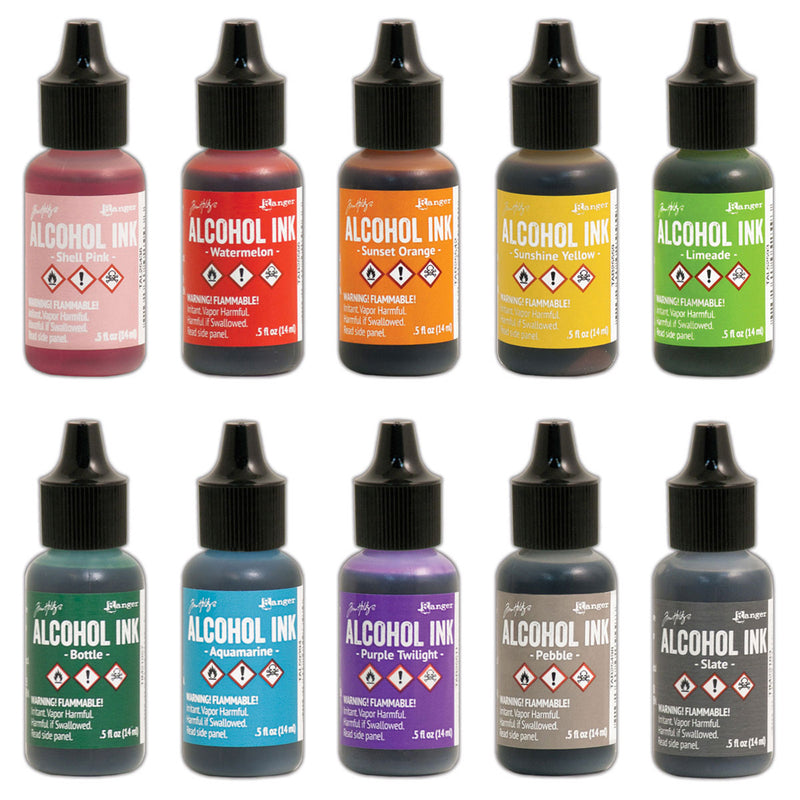 Ranger Tim Holtz Alcohol Inks | Available in 60 colors | Art Journal Junction
