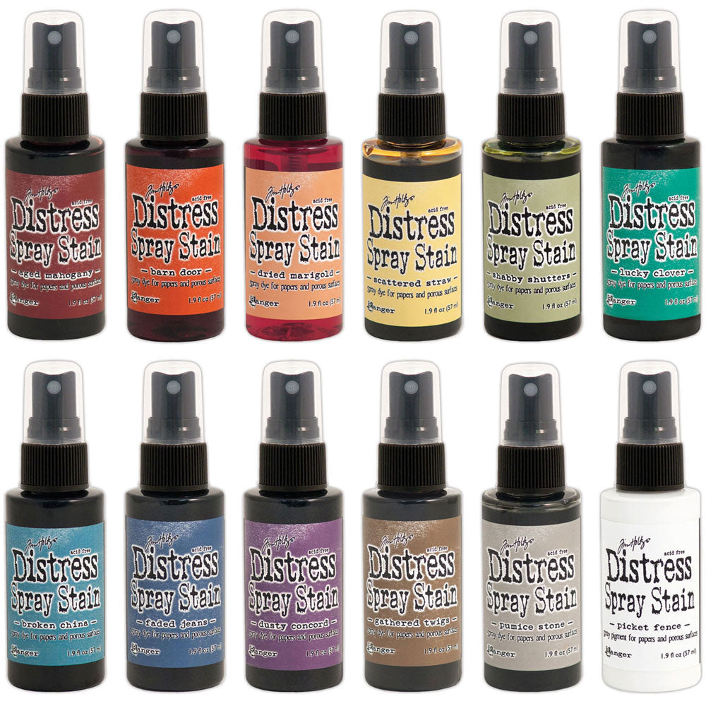 Tim Holtz Distress Spray Stains  (available in 69 colors)