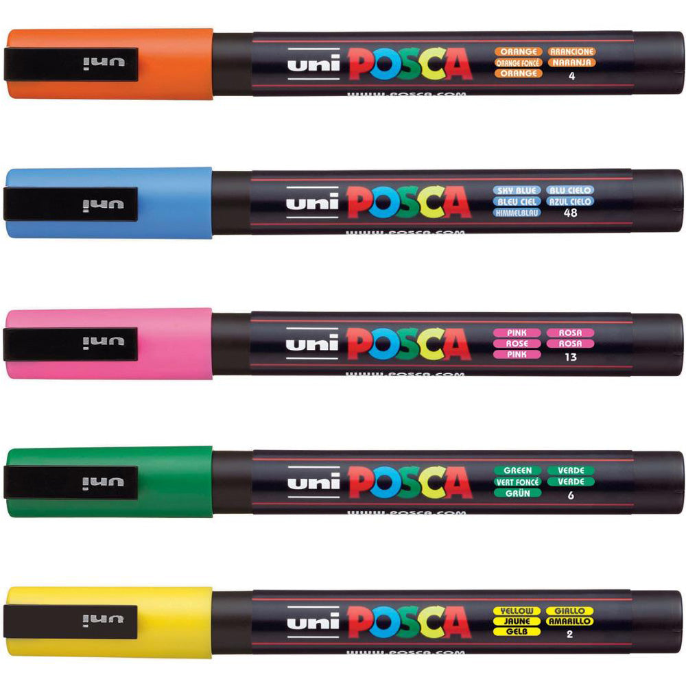 Posca Paint Markers - 3M Tip    (available in 40 colors)
