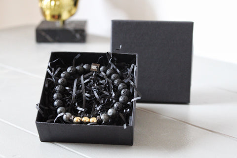 Chuckaboo Luxury Beaded Stone Bracelet With Gift-Box - Gentlemen's Chuckaboo